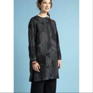 GUDRUN SJODEN Gray Geometric OCTO SHIRT DRESS